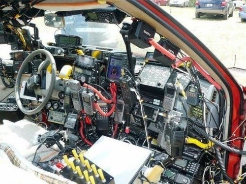 Amateur radio car installation
