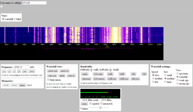 websdr capture