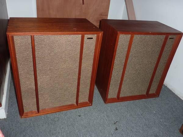 pair of vintage wharfedale speakers