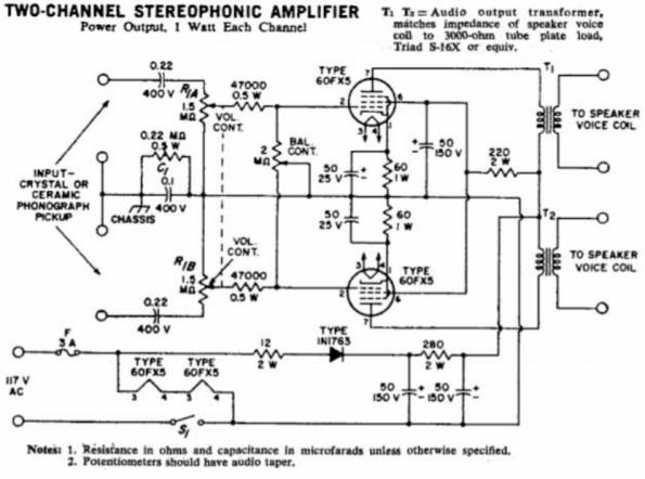 Neat Little 60fx5 Stereo Single Ended Tube Amplifier